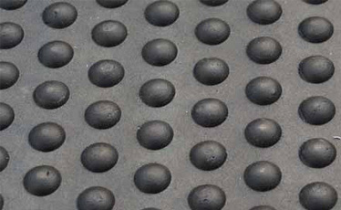 Solid Rubber Floor Mats-Bubble Top