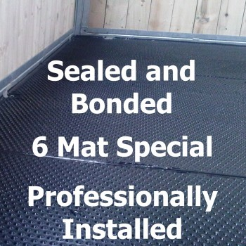 Professionally Installed Bonded and Sealed – 6 Mats