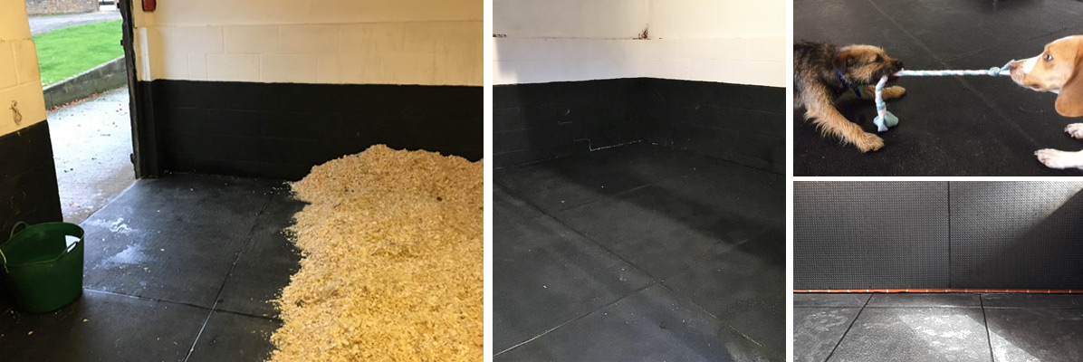 Sealed and bonded rubber mats
