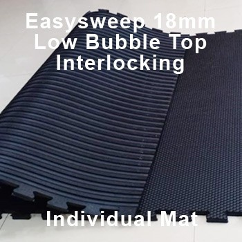 18mm EasySweep Rubber Stable Mat – Low Bubble Top Interlocking – Single