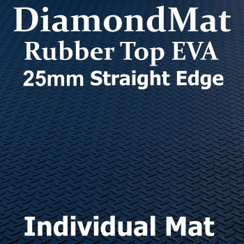 Rubber Top EVA – Straight Edge – 25mm Diamond Mat – Individual