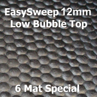 12mm EasySweep Solid Rubber Stable Mat - Low Bubble Top - 6 Mat Special