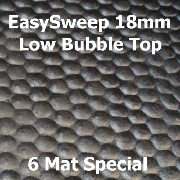 18mm EasySweep Rubber Stable Mats – Low Bubble Top – 6 Mat Special