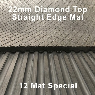 22mm Premium Solid Rubber – Maxi Grip – Diamond Top - 12 Mat Special