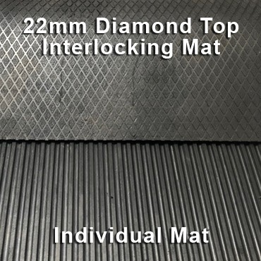 22mm Premium Solid Rubber Interlocking – Maxi Grip – Diamond Top - Individual