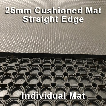 25mm Premium Solid Rubber Cushioned Mat – Maximum Comfort – Hammer Top - Individual