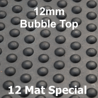 Bubble Top Solid Rubber Stable Mat 12mm - 12 Mat Special