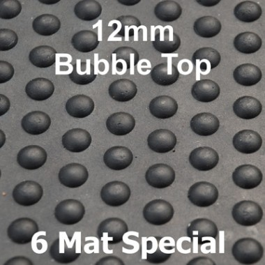 Bubble Top Solid Rubber Stable Mat 12mm - 6 Mat Special