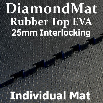 Rubber Top EVA – Interlocking – 25mm Diamond Mat – Individual