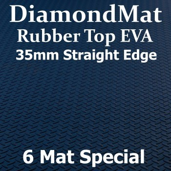 Rubber Top EVA – Straight Edge – 35mm Diamond Mat – 6 Mat Special – Free Shipping