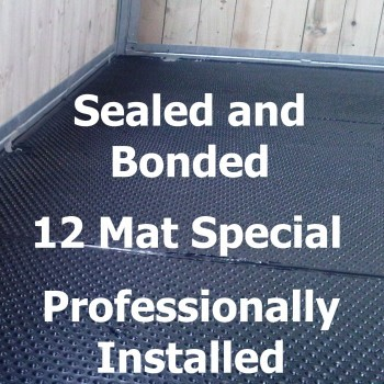 Professionally installed Bonded and Sealed – 12 Mats